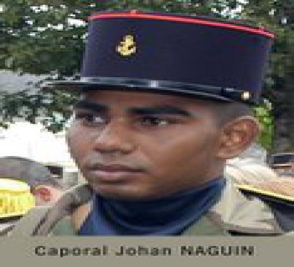 4/09/09 - Caporal Johan NAGUIN (25 ans, 1 enfant) 3eme RIMa