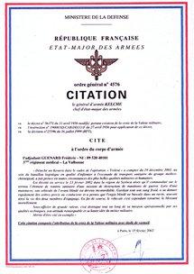 13/02/02 Adjudant Frederic GUENARD (32 ans, 2 enfants) 3eme Régiment Médicalisé Bat Log Trident