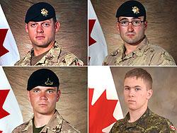 4 soldats canadiens tués et 8 blessés hier dans la région de Kandahar