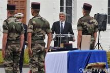 Les honneurs militaires ont été rendu au caporal-chef Anthony Bodin