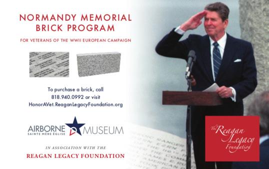 Briques commémoratives en l'honneur des vétérans à l'Airborne Museum de Sainte-Mère-Eglise