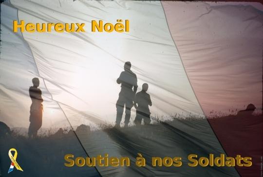 NOUS SOUHAITONS DE BONNES FÊTES DE NOEL A NOS SOLDATS