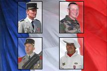HONNEUR AUX QUATRE SOLDATS DE FRANCE TOMBES EN AFGHA
