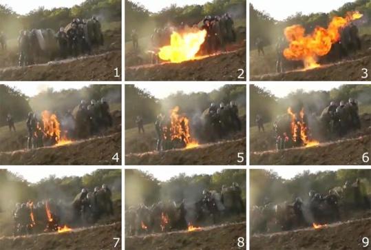 """Photo apportant la preuve que les """"manifestants"""" sont de """"paisibles victimes"""" !"""