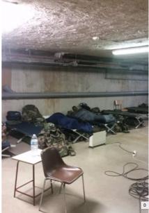 Les conditions d'hébergement inacceptables  des hommes de Sentinelle