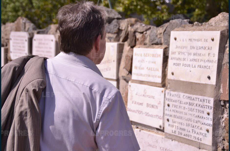 Commémoration du massacre au Fort de Côte-Lorette à Saint-Genis-Laval