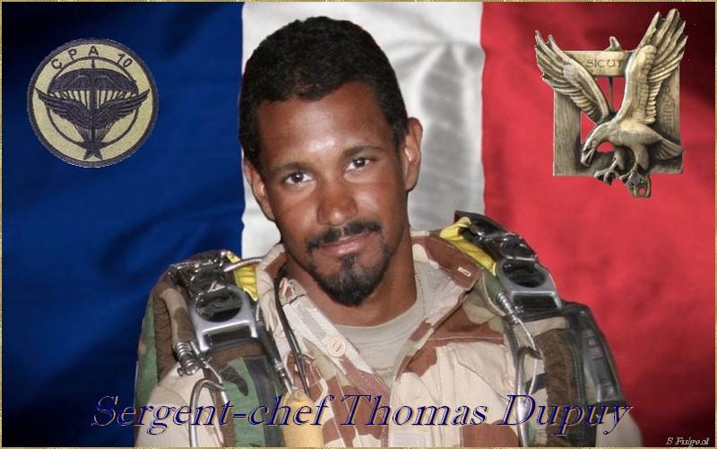 Un Soldat de France, le  Sergent-chef Thomas DUPUY vient de tomber