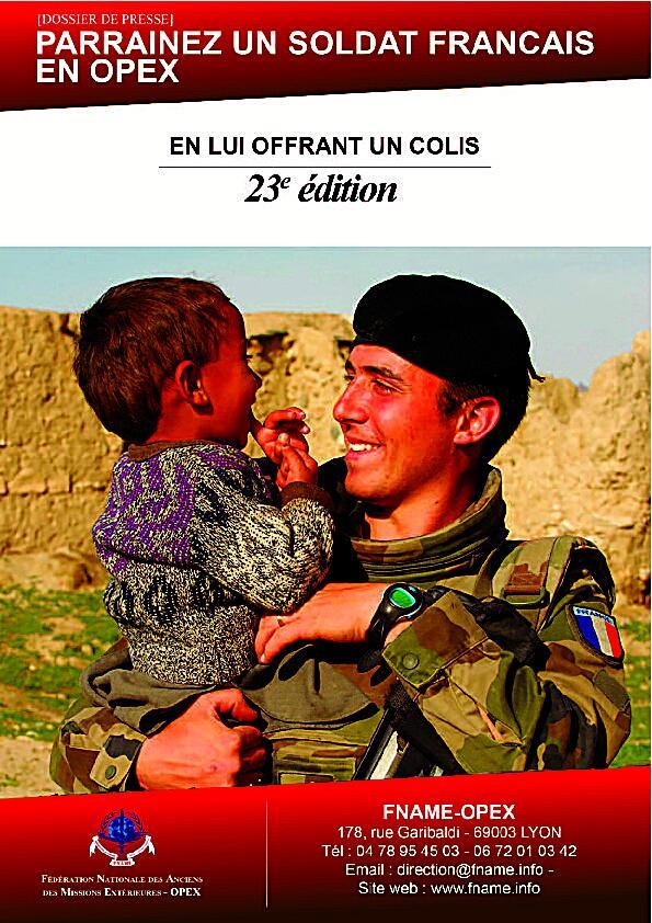"""Pensez à eux et dites leur ! Opération """"Un colis pour un soldat français"""""""