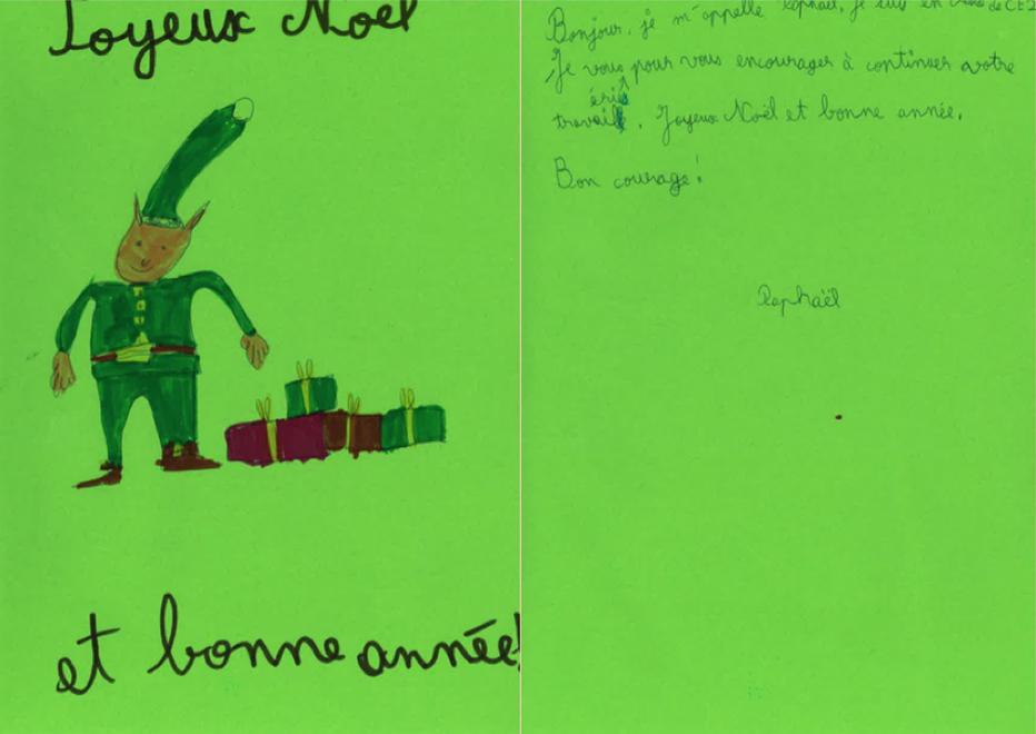 Des élèves de CE1/CE2 écrivent à nos soldats pour les fêtes !