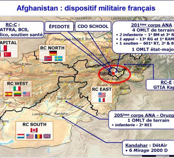 Le dispositif militaire français en Afghanistan