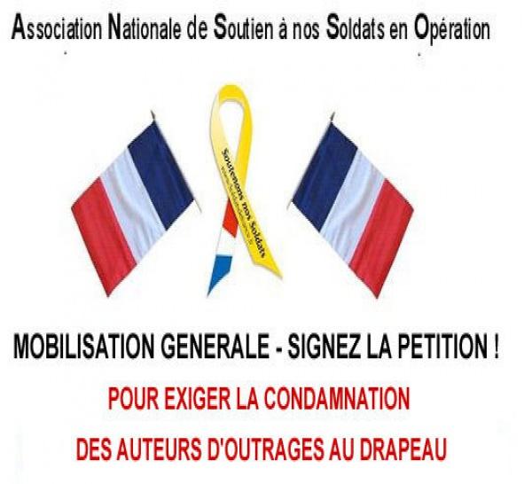 PETITION pour que soient condamnés les auteurs d'outrages aux emblèmes nationaux ! DEJA  2200 SIGNATURES !