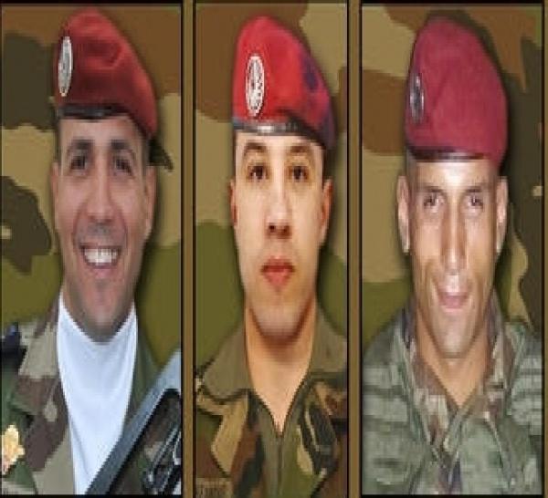 HONNEUR à nos PARAS abattus parce qu'ils étaient des SOLDATS de FRANCE ! Maréchal des logis chef Imad Ibn Ziaten- caporal Abel Chennouf -  1re classe Mohamed Farah Chamse-Dine Legouade